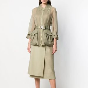NWT Fendi Belted Mesh Jacket 36IT RRP $2000